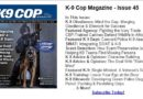 Scent Evidence K-9 Article in K-9 Cop Magazine