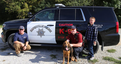 Naperville Police Department Bloodhound Team Find Hit and Run Suspect.