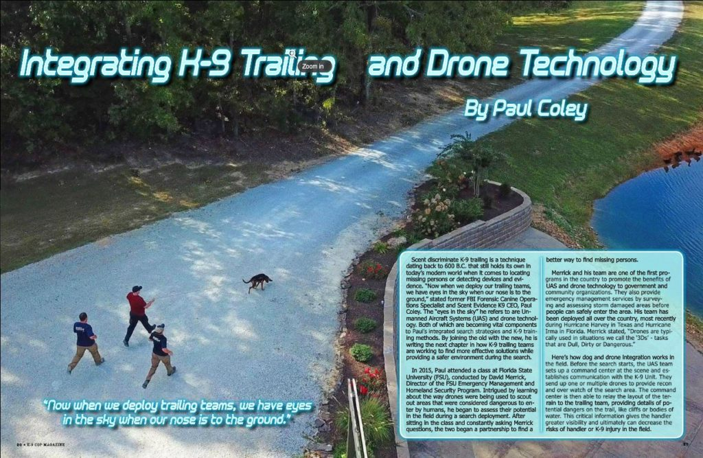 K-9 Cop K9 Trailing Drone Integration article