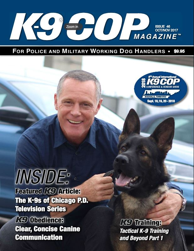 K9 Cop Magazine featuring Scent Evidence K9 Trailing Drone Integration article