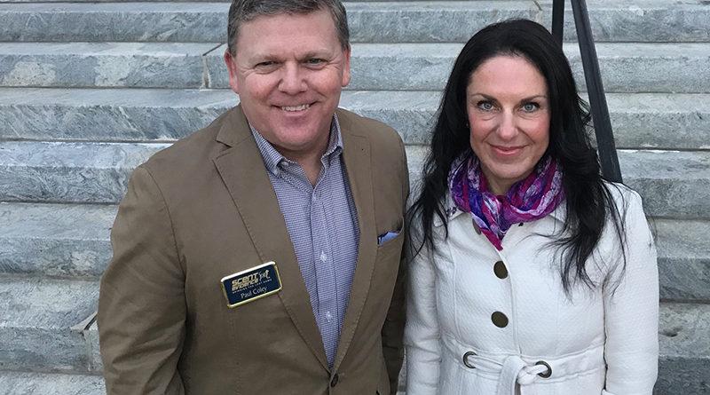 Scent Evidence K9 CEO, Paul Coley and Florida Alzheimer's Association VP, Michelle Branham