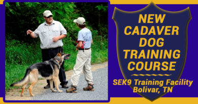 SEK9 Offers New HRD Cadaver Dog Training