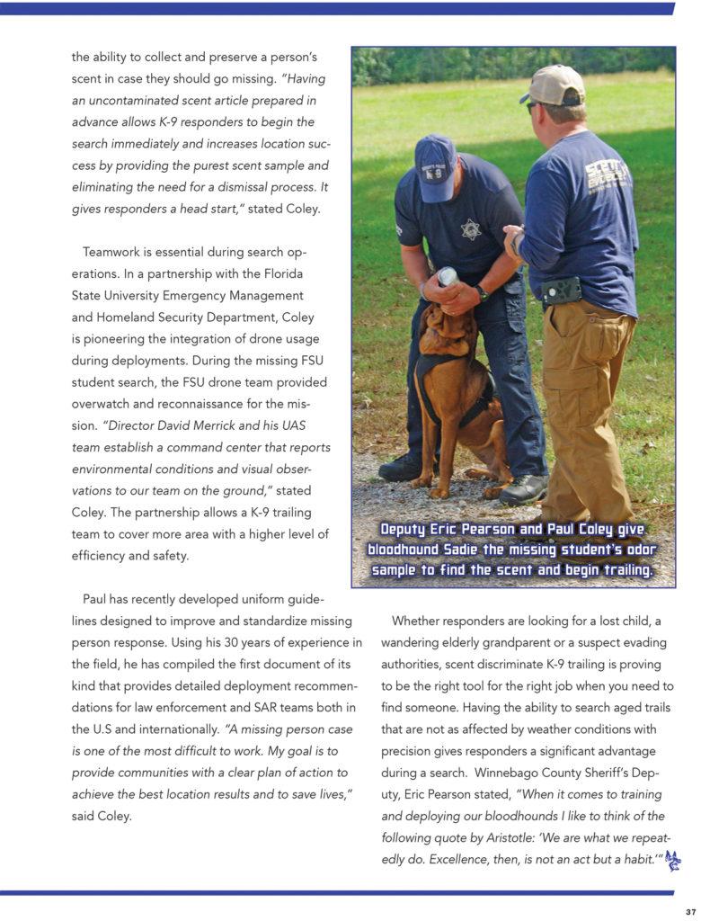 Scent Discriminate K9 Trailing-page 4