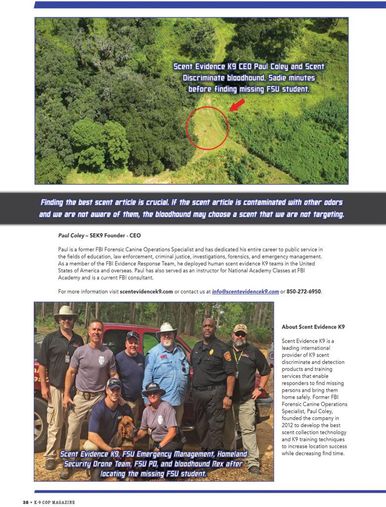 Scent Discriminate K9 Trailing-page 5