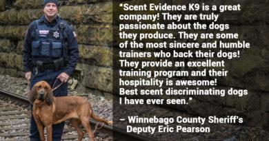 Scent Evidence K9 Testimonials