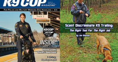 K-9 Cop Magazine Scent Discriminate Trailing Article