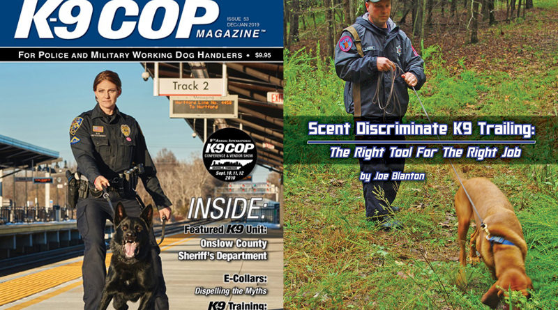 K-9 Cop Magazine Scent Discriminate Trailing Article