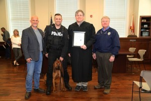 Bloodhound Eli sworn in as new Tuscumbia Police Department K9 Officer