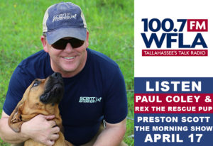 WFLA Paul Coley and Rex the Rescue Pup Preston Scott The Morning Show