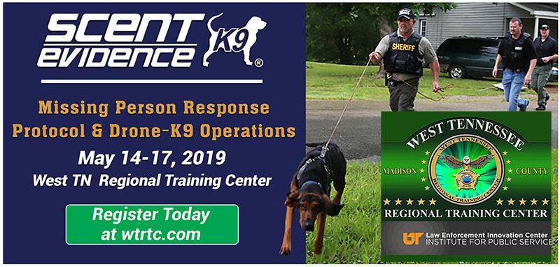 Missing Person Response Protocol Training at West TN Regional Training Center. Jackson, TN