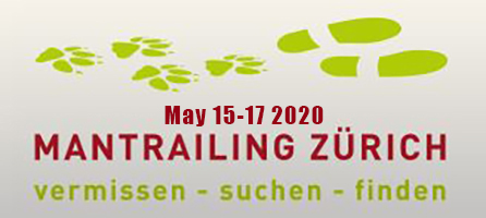 Mantrailing Zurich Seminar May 15-17 2020