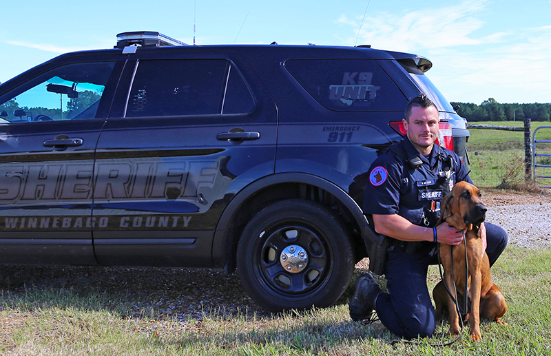 WCSO Deputy and Bloodhound Use Scent to Locate Burglary Suspect